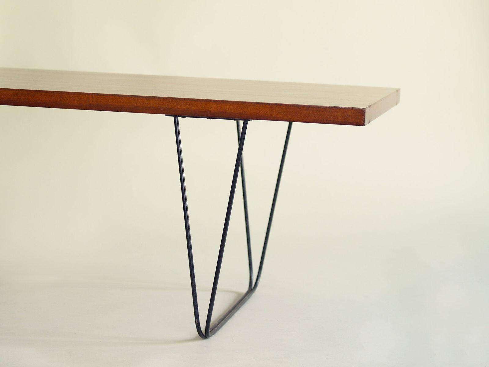 table basse cm 191 par pierre paulin pour thonet 1950s en vente sur pamono. Black Bedroom Furniture Sets. Home Design Ideas