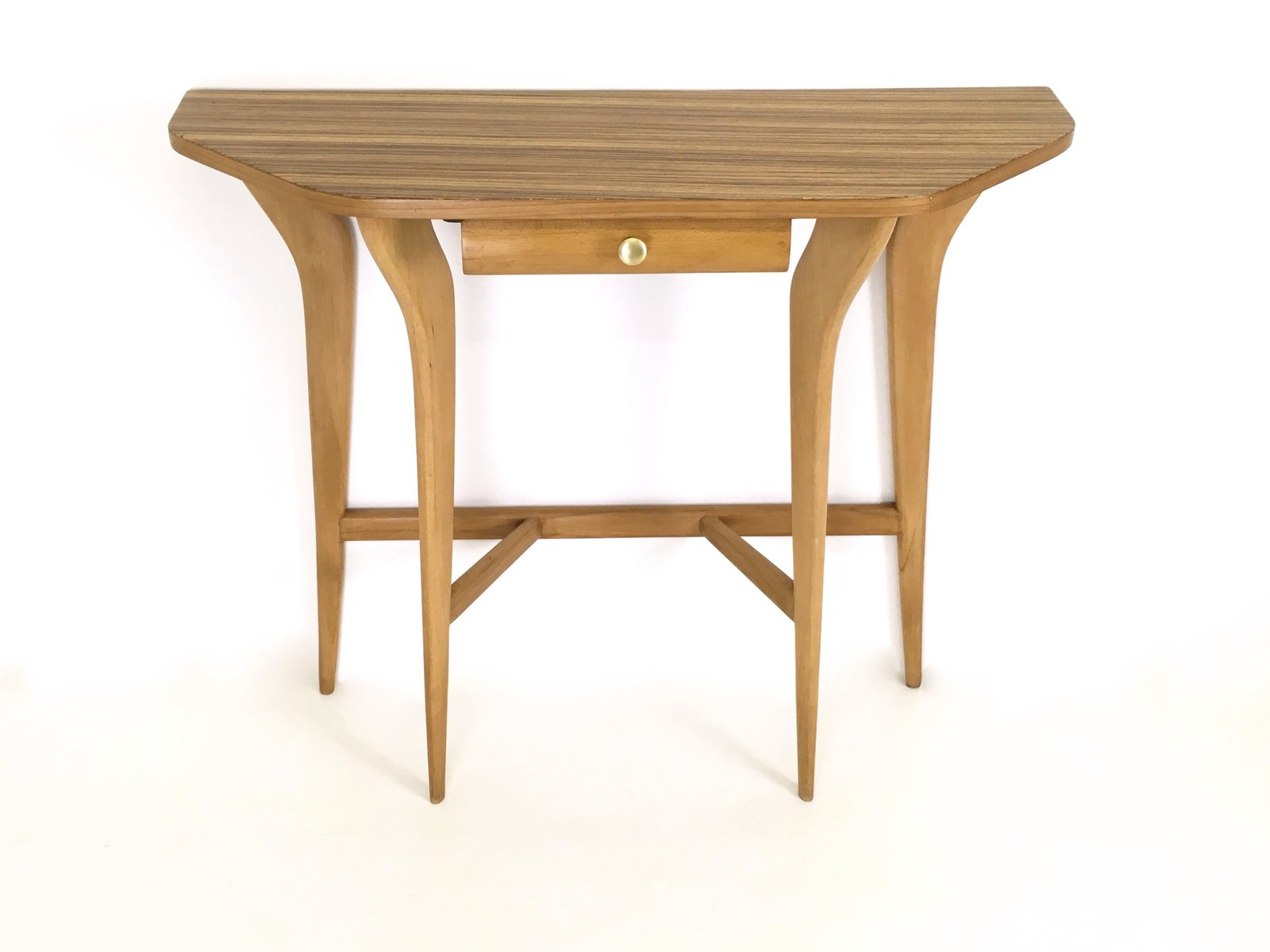 Maple and zebrawood console table 1950s for sale at pamono maple and zebrawood console table 1950s geotapseo Image collections