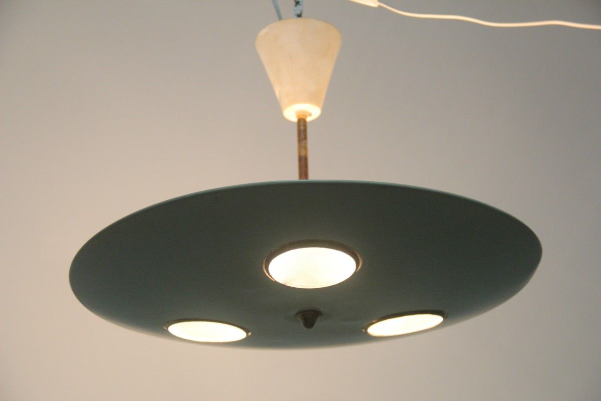 Lampada da soffitto di Lumen Milano, anni '50 in vendita su Pamono