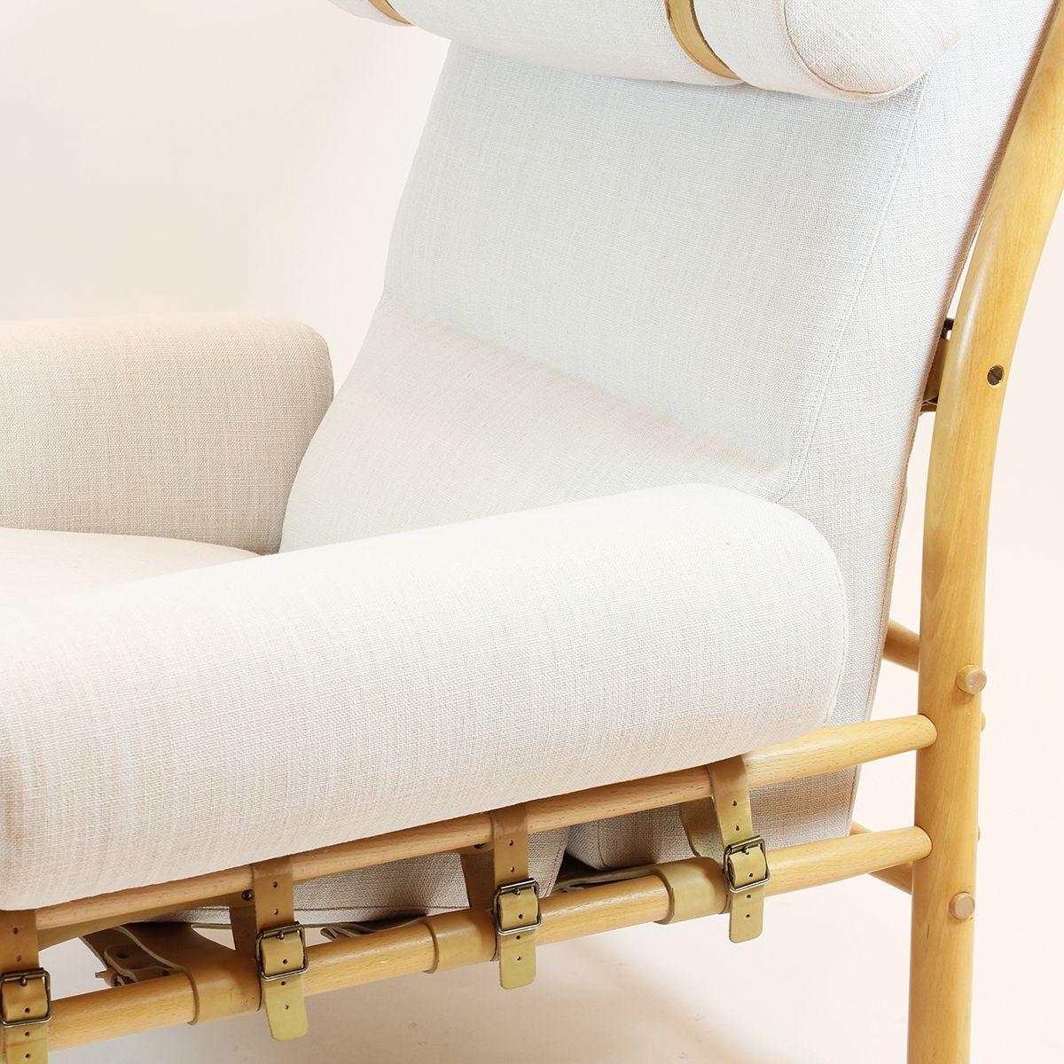 schwedischer mid century sessel mit fu hocker von arne norell inca 1960er bei pamono kaufen. Black Bedroom Furniture Sets. Home Design Ideas