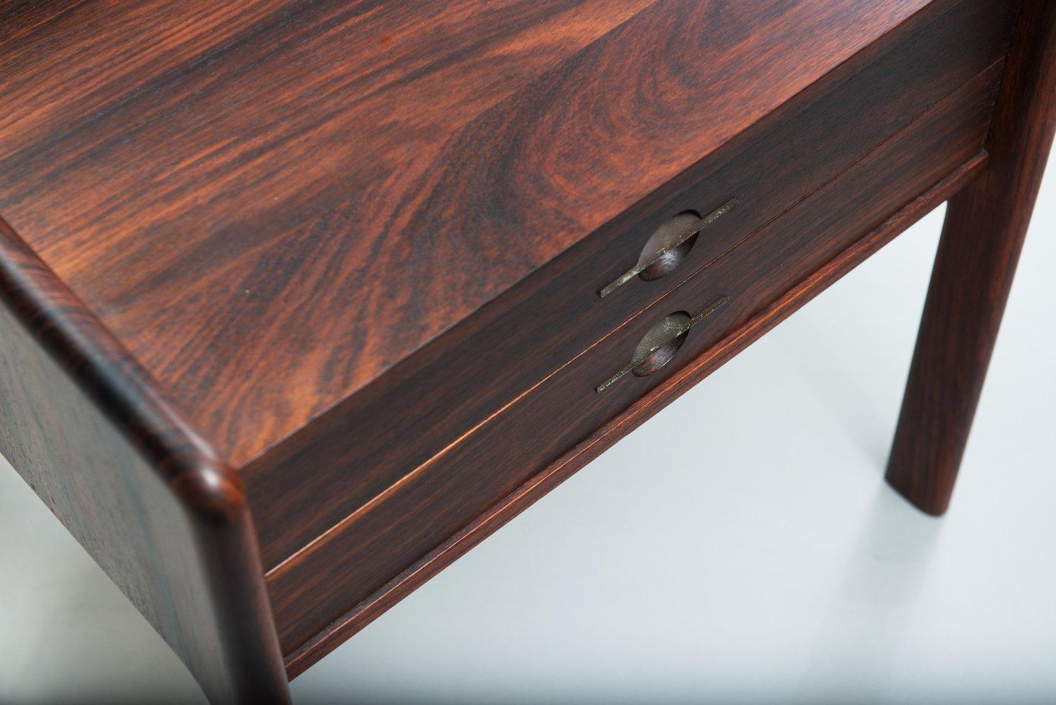 schwedischer gro er palisander nachttisch 1950er bei. Black Bedroom Furniture Sets. Home Design Ideas
