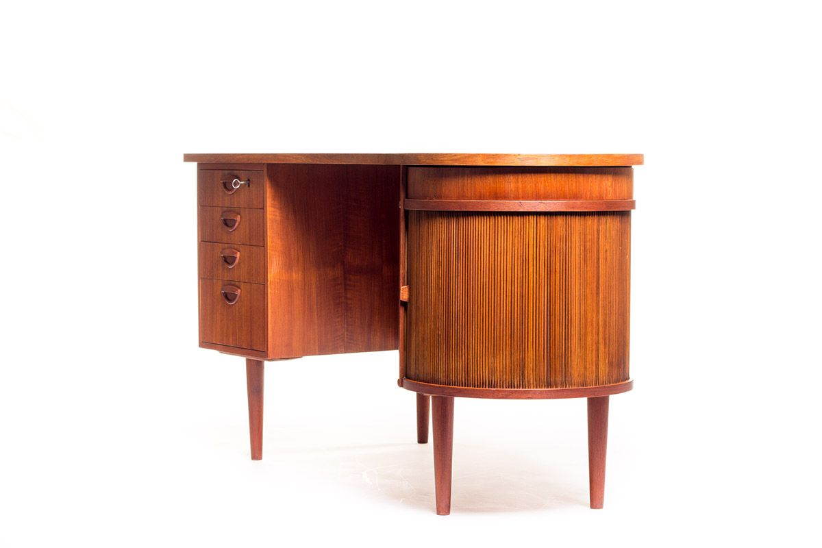 Kidney Desk And Chair By Kai Kristiansen For Feldballes