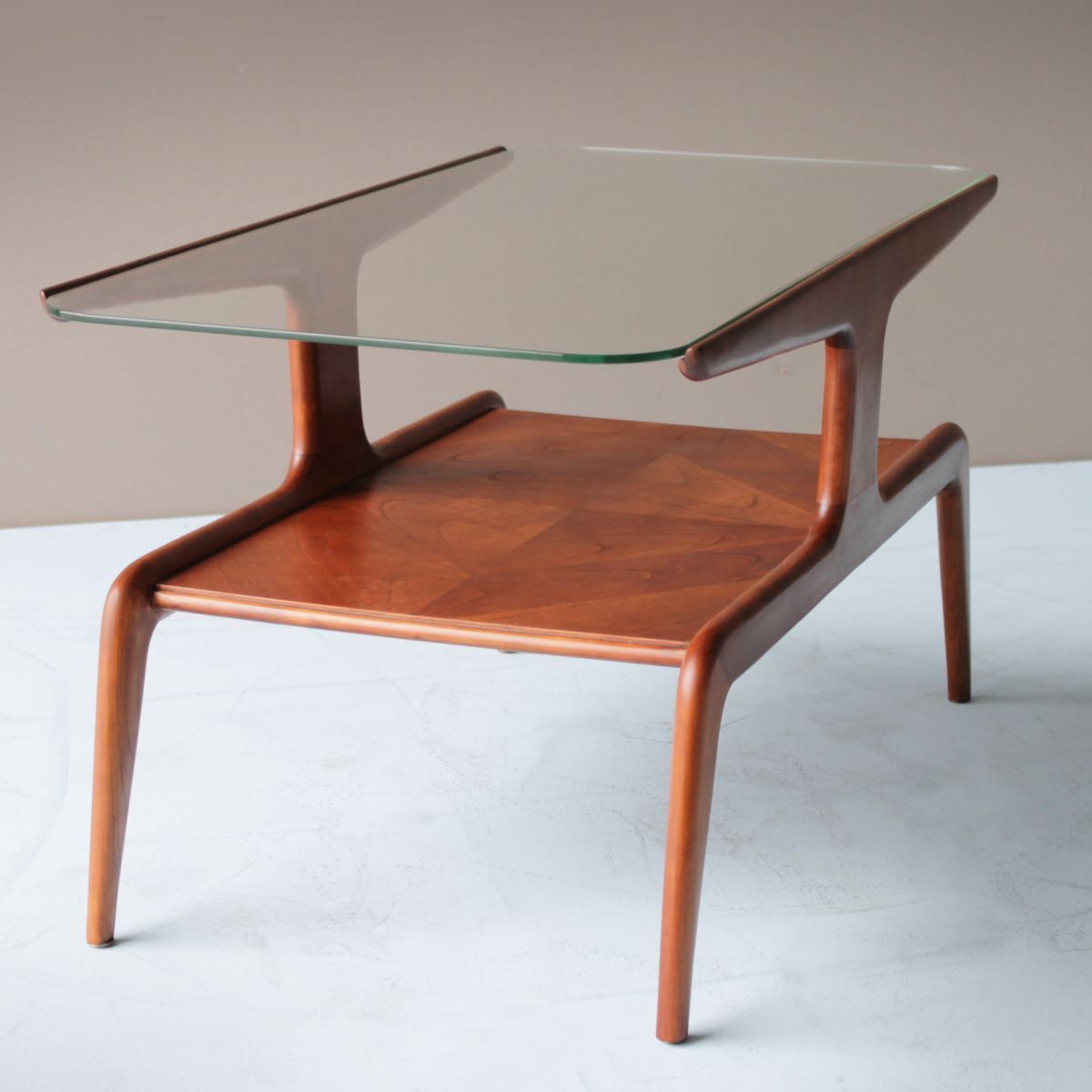 cedar and glass top coffee table 1940s for sale at pamono ce