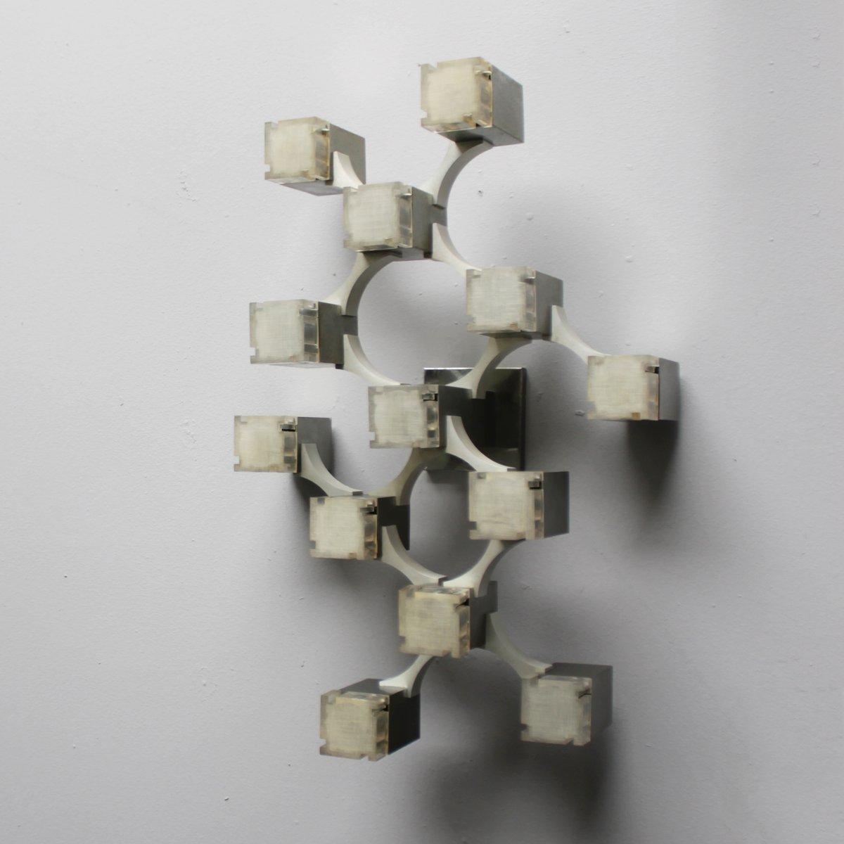 Kubistische Wandlampe von Gaetano Sciolari, 1970er bei ...