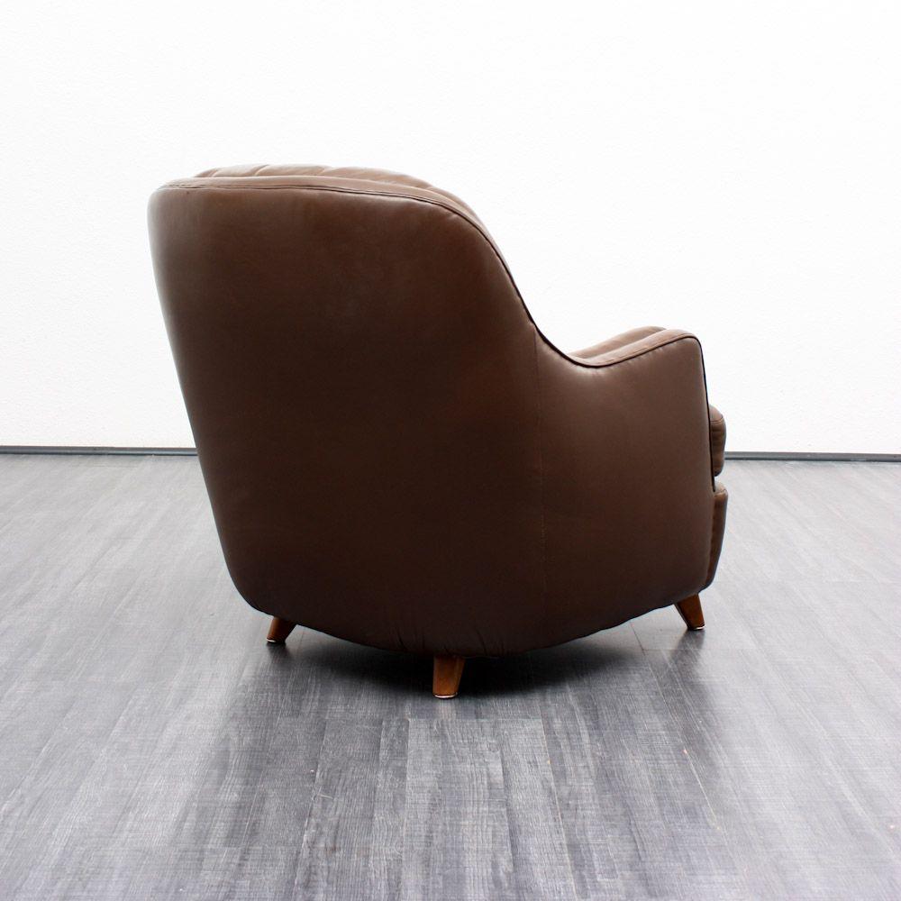 brauner vintage ledersessel 1960er bei pamono kaufen. Black Bedroom Furniture Sets. Home Design Ideas