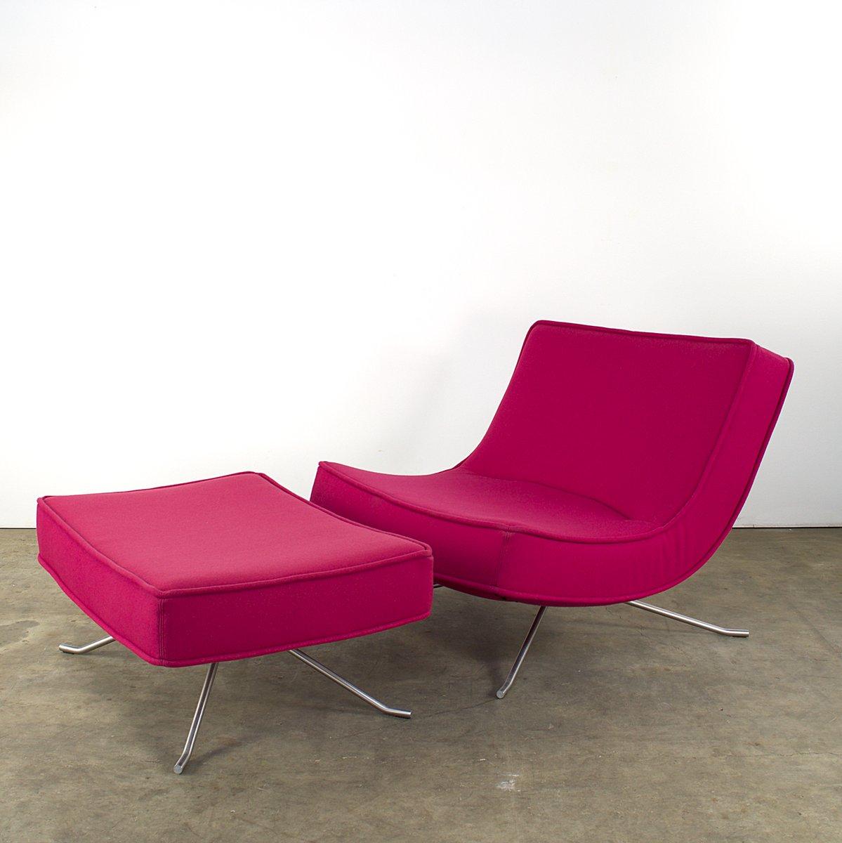 fauteuil pop et ottomane par christian werner pour ligne. Black Bedroom Furniture Sets. Home Design Ideas