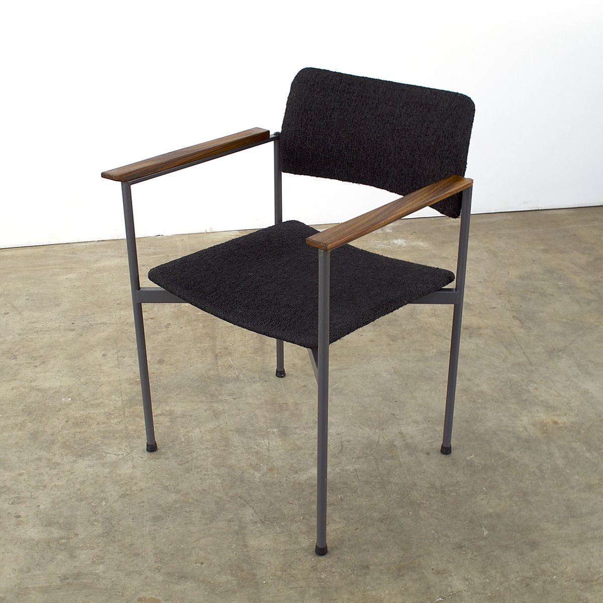 Steel And Teak Office Chairs 1960s Set Of 2 For Sale At