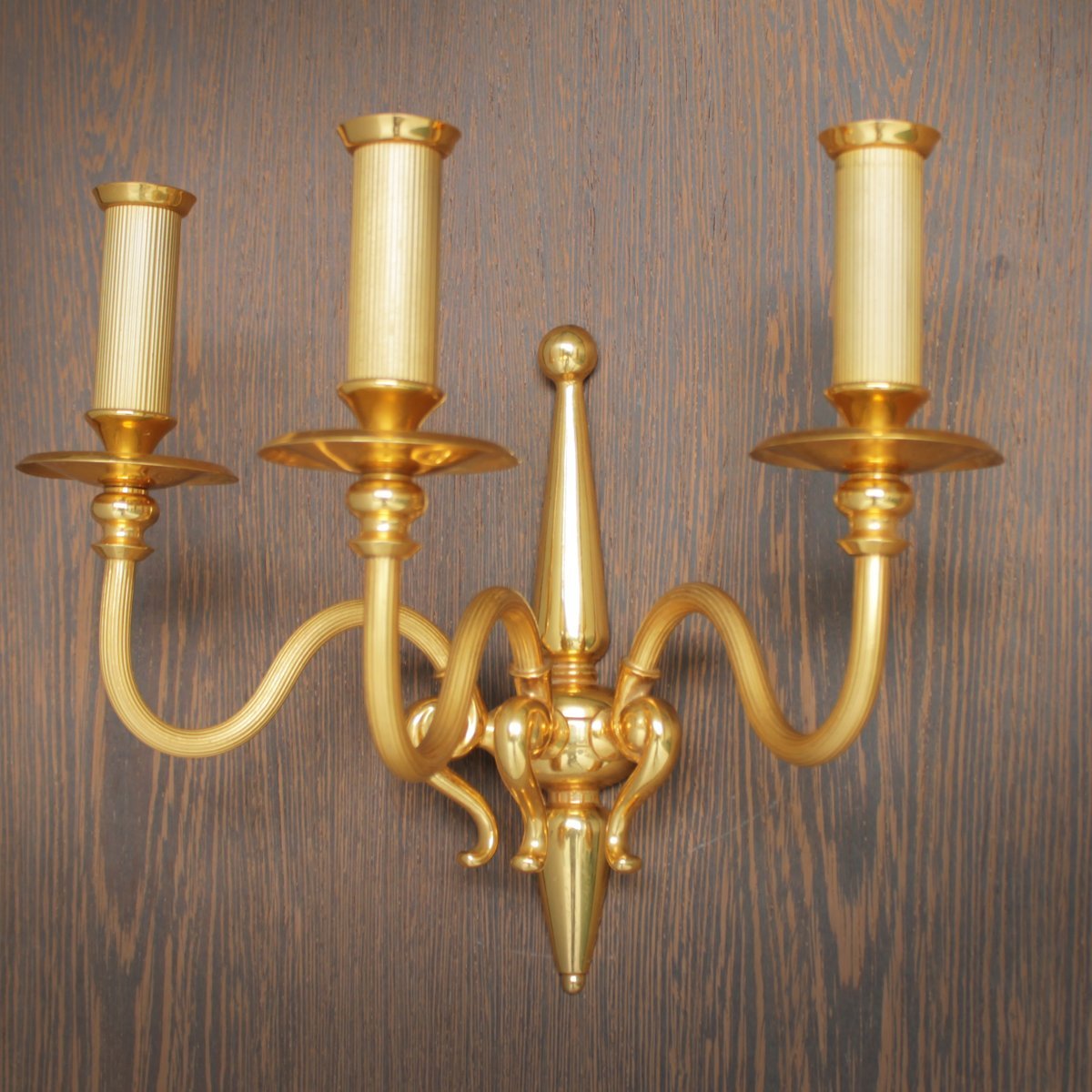 Wall Sconces Gold : Gold Plated Wall Sconces from Lumi Milano, 1960, Set of 2 for sale at Pamono