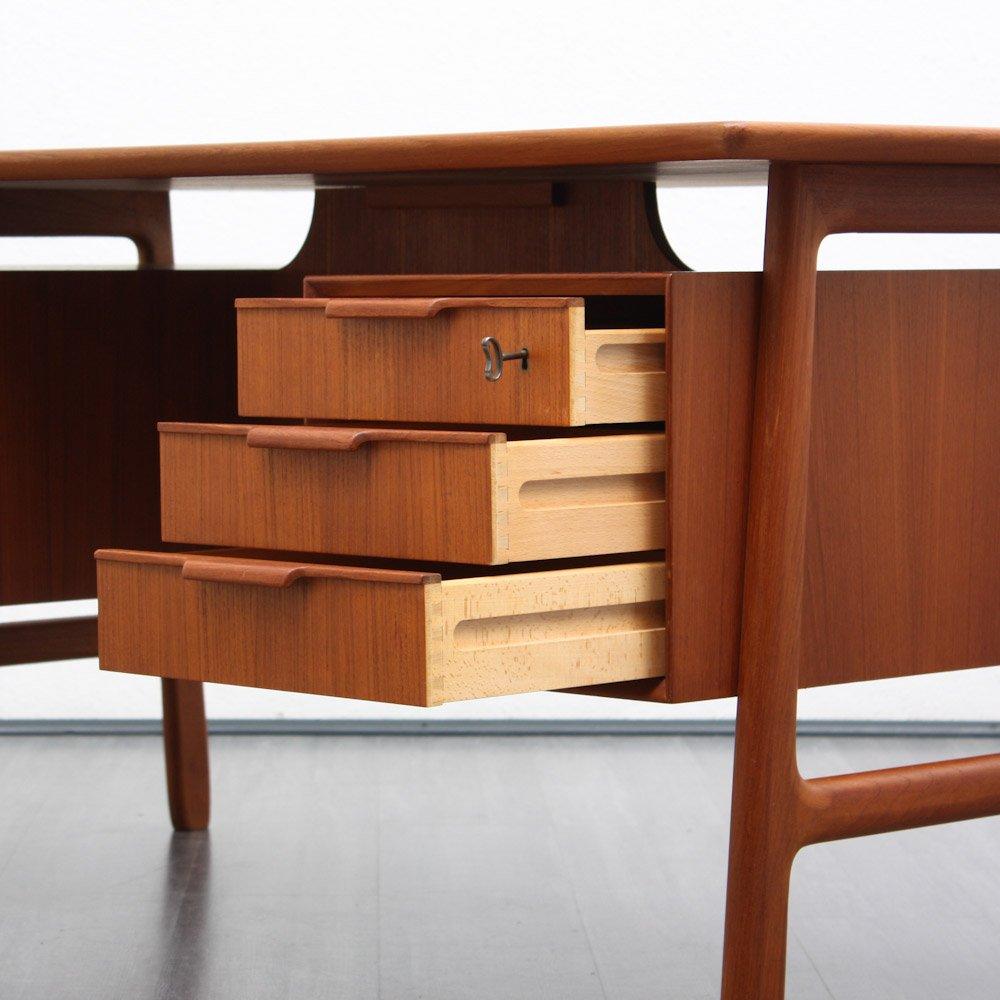 bureau en teck par gunni omann pour omann jun 1960s en vente sur pamono. Black Bedroom Furniture Sets. Home Design Ideas