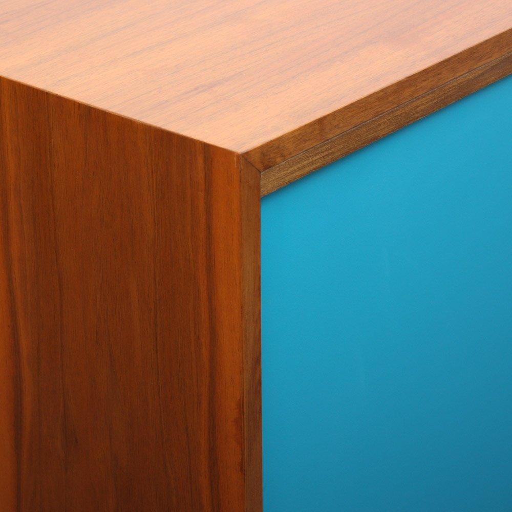 walnuss highboard mit formica schiebet ren 1960er bei. Black Bedroom Furniture Sets. Home Design Ideas