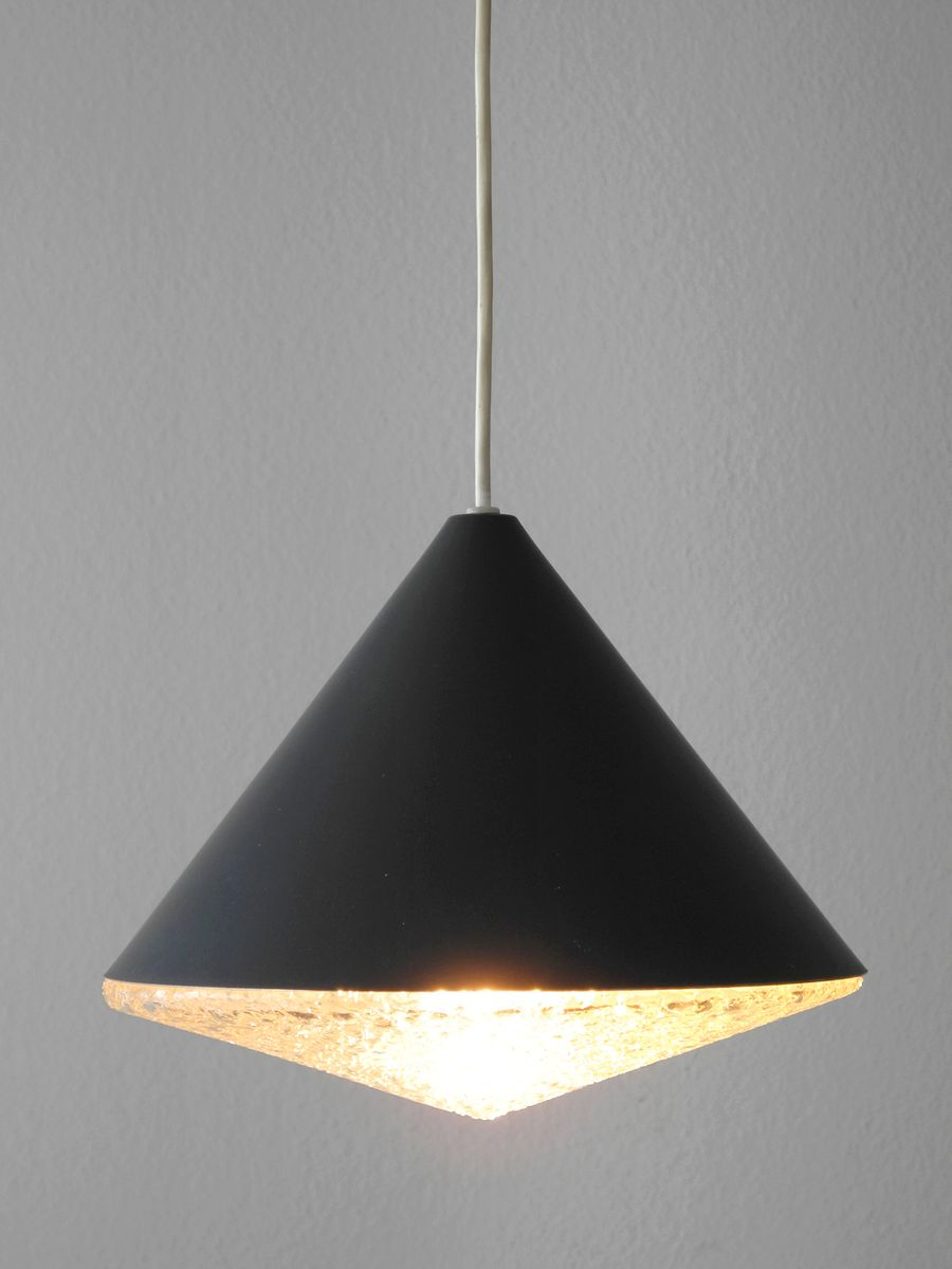 Glass Conical Pendant Lamp 1960s For Sale At Pamono