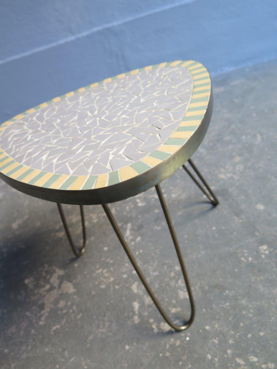 kleiner vintage mosaik tisch 1950er bei pamono kaufen. Black Bedroom Furniture Sets. Home Design Ideas