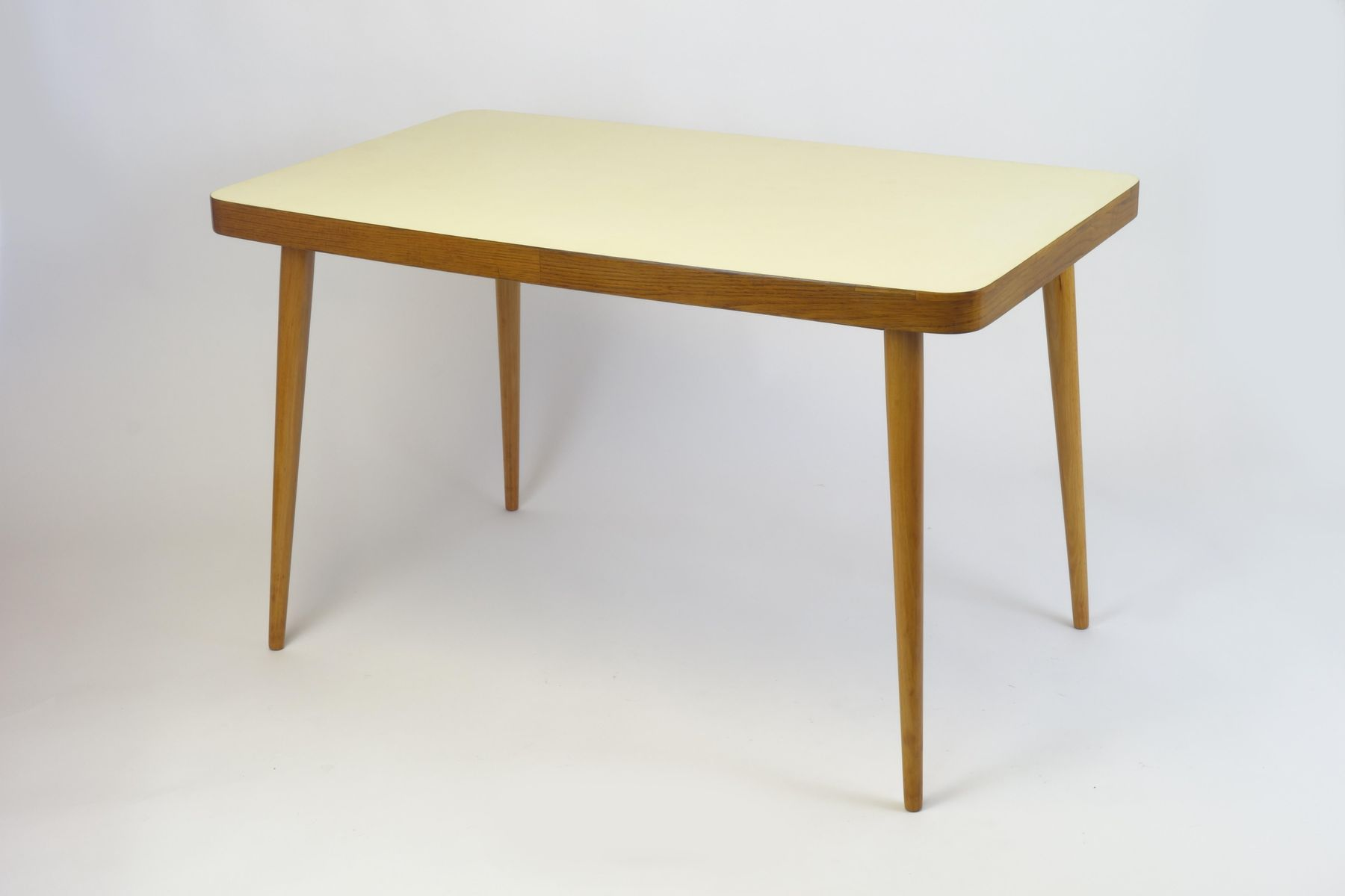 Yellow top wooden dining table 1950s for sale at pamono for Wooden dining tables for sale