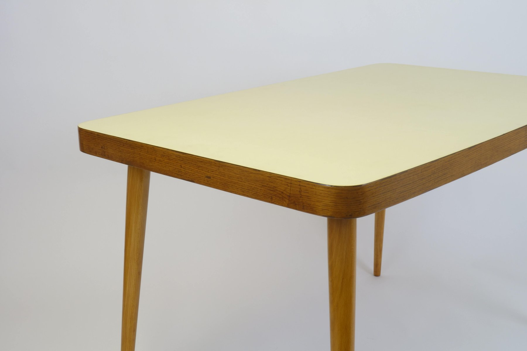 Yellow Top Wooden Dining Table 1950s for sale at Pamono : yellow top wooden dining table 1950s 4 from www.pamono.co.uk size 1800 x 1200 jpeg 53kB