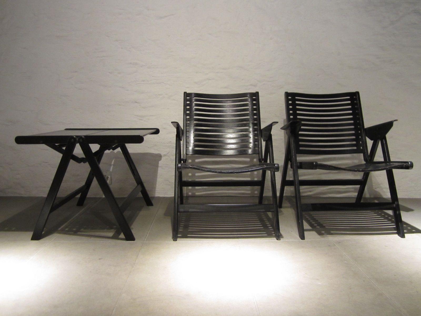 Vintage Rex Chairs & Coffee Table by Niko Kralj for Stol Kamnik