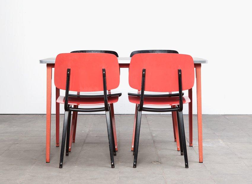 Revolt chairs reform table dining set by friso kramer for ahrend de cirkel 1954 for sale at - Kamer dining ...