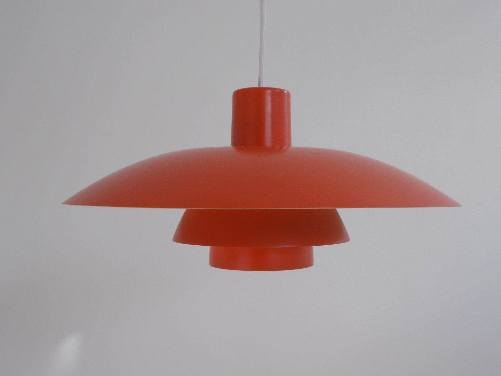 red pendant lighting. danish red ph 34 pendant light by poul henningsen for louis poulsen 1950s lighting