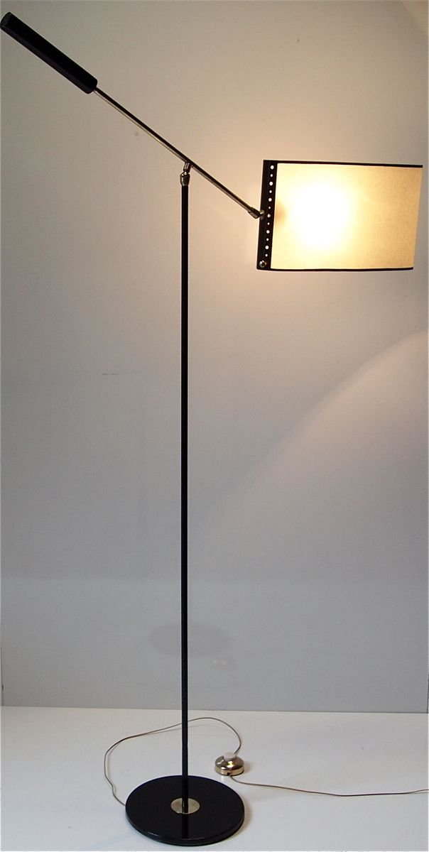 Floor lamp with paper shade from lunel 1950s for sale at for Paper floor lamp b q