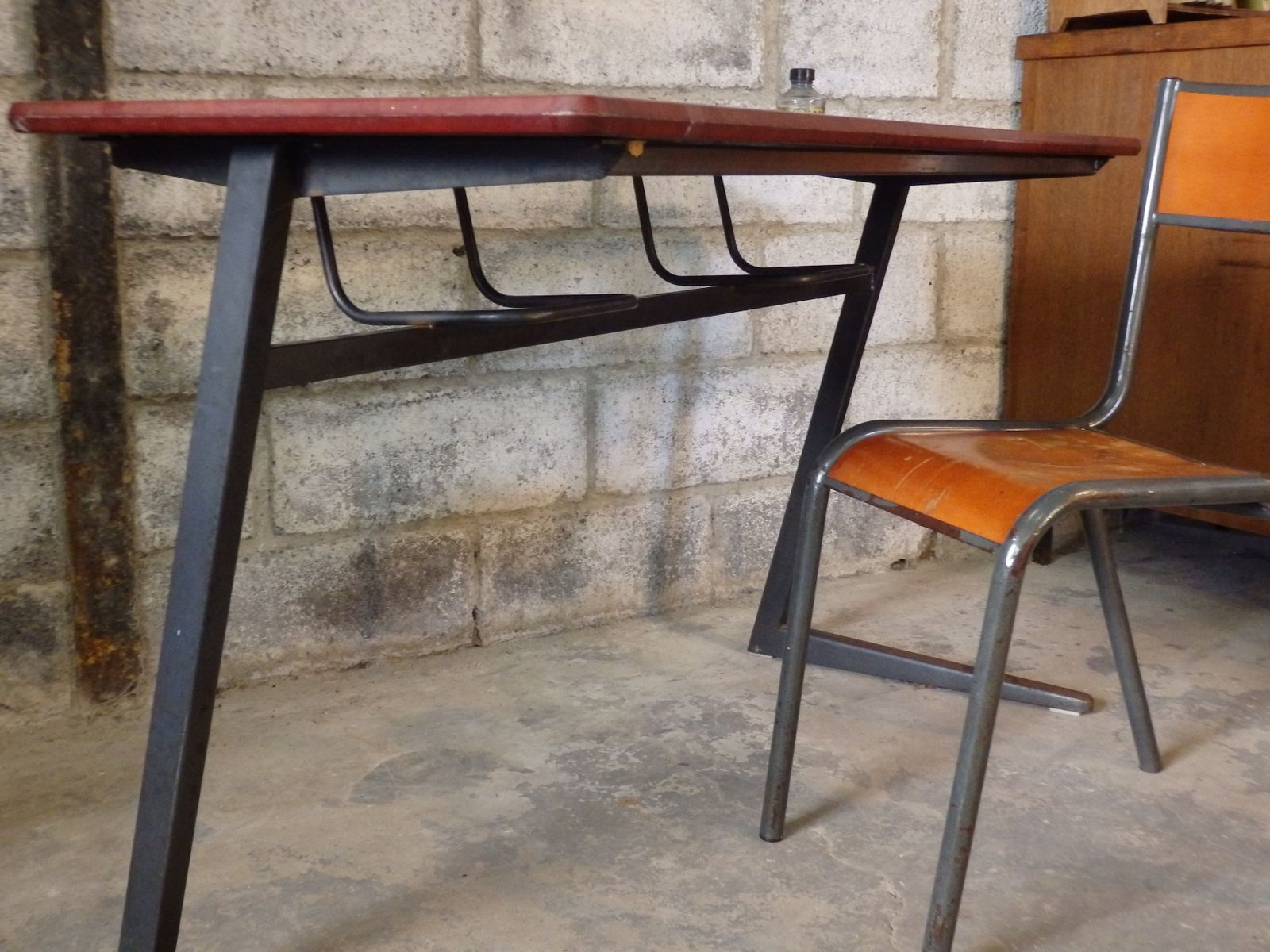 School desk and chair model 510 from mullca for sale at pamono for Chaise mullca 510