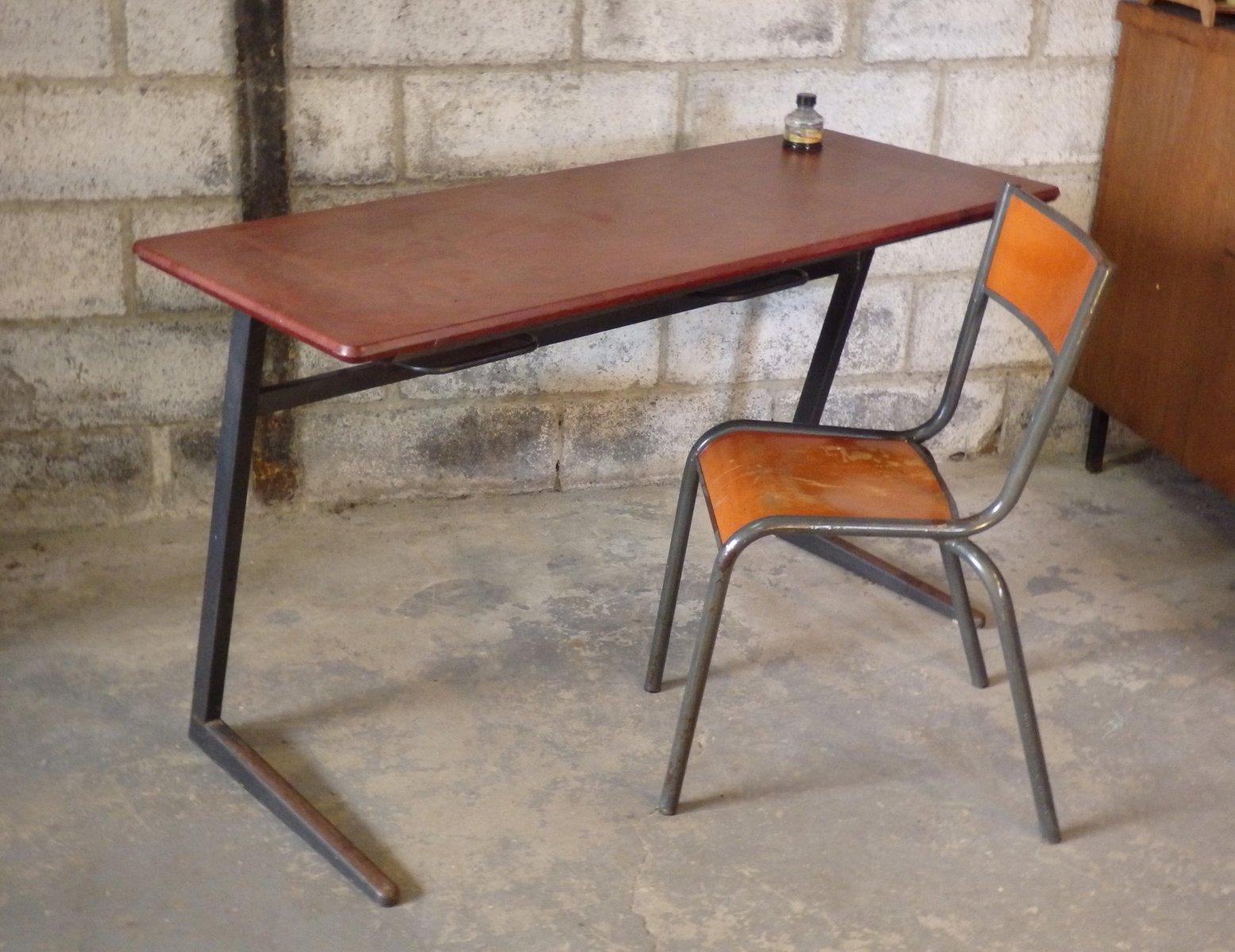 schulbank und stuhl modell 510 von mullca bei pamono kaufen. Black Bedroom Furniture Sets. Home Design Ideas