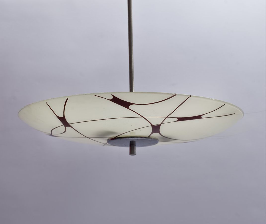 Mid century patterned ceiling lamp for sale at pamono for Mid century ceiling lamp