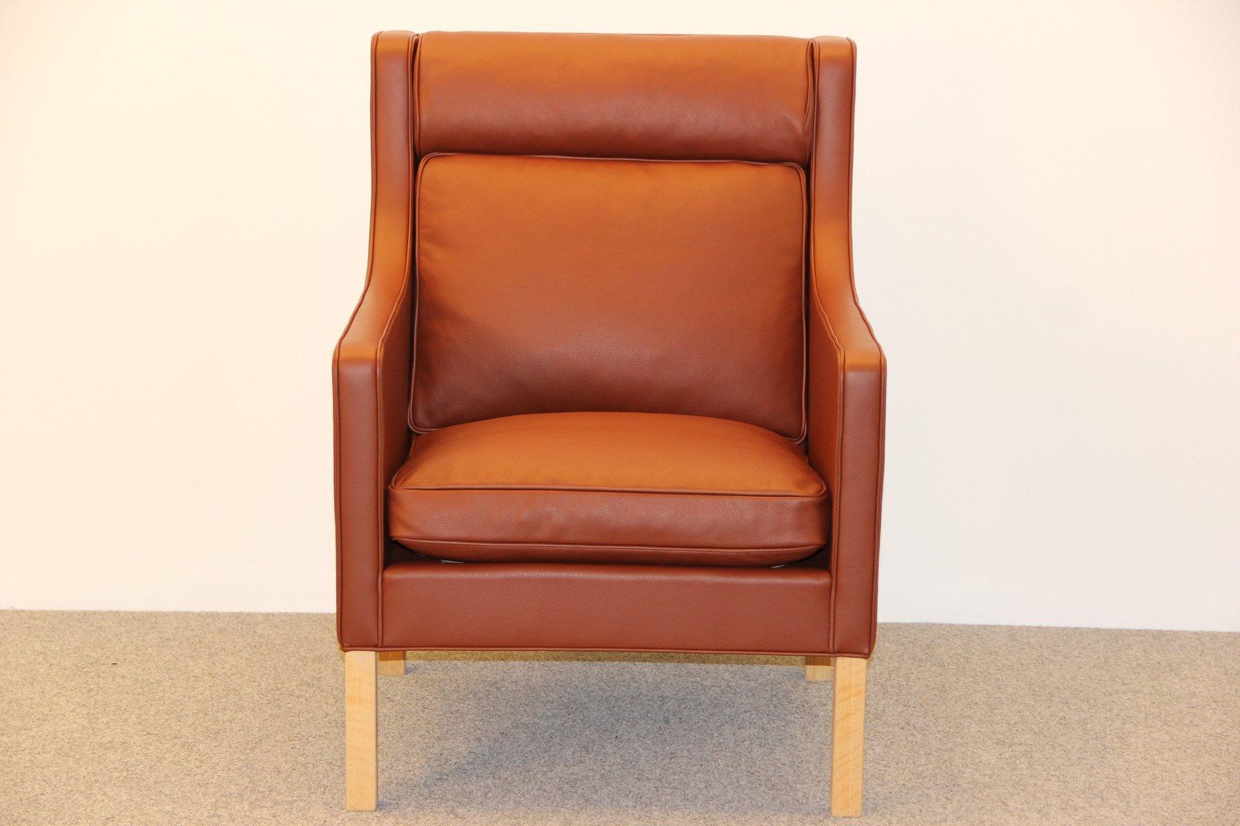 danish model 2431 easy chair by b rge mogensen for. Black Bedroom Furniture Sets. Home Design Ideas