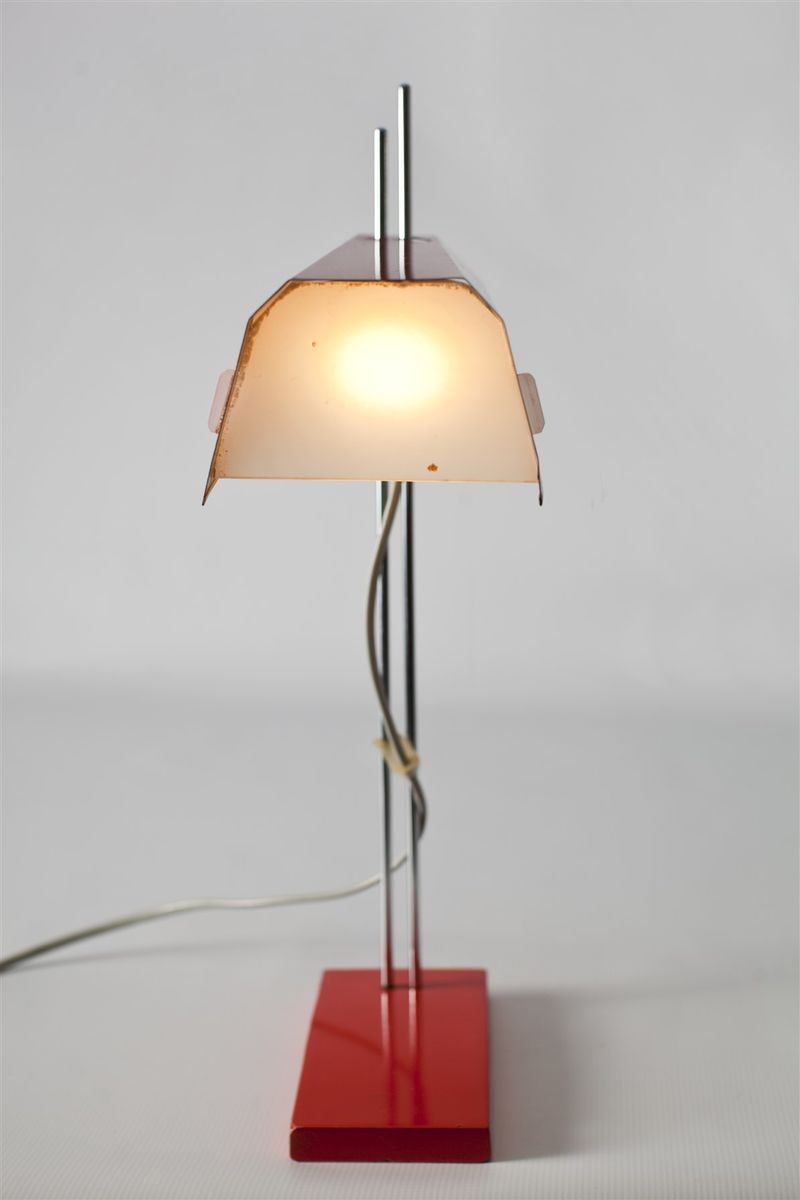 red table lamp by josef hůrka for lidokov s for sale at pamono - red table lamp by josef hůrka for lidokov s