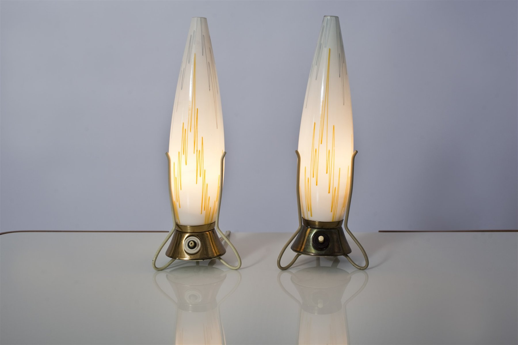 Vintage Czech Tripod Table Lamps Set Of 2 For Sale At Pamono