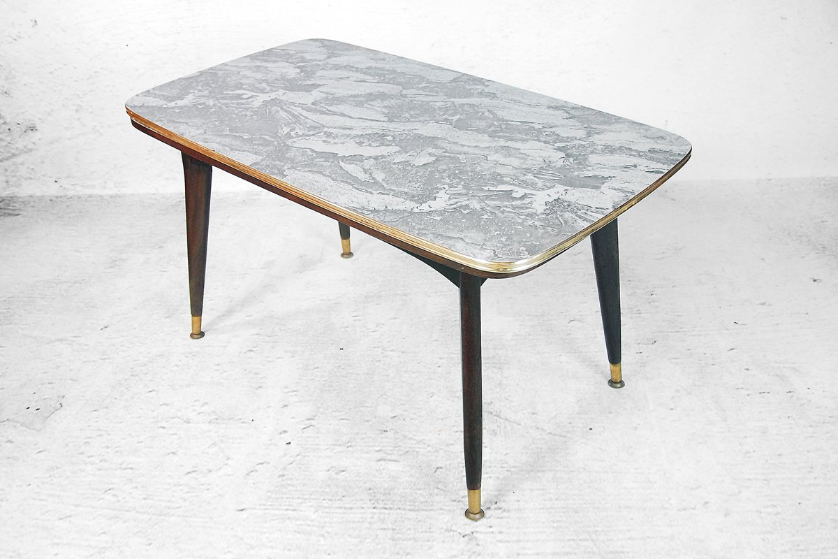 Folding Side Table And Dining Table With A Marble Pattern 1960s For Sale At