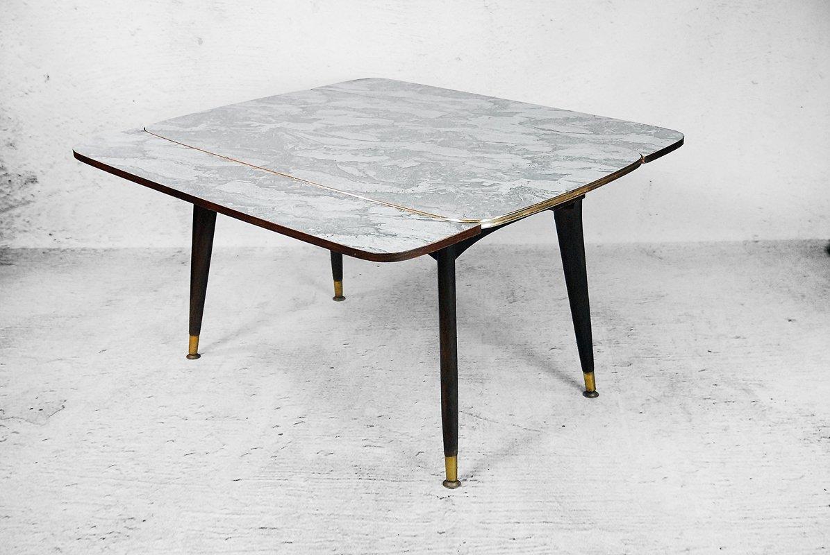 Tavolino e tavolo da pranzo pieghevole color marmo anni for Tavolino anni 60 design