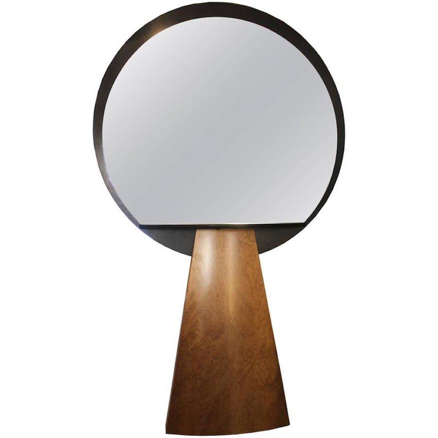 italienische konsole mit spiegel von ettore sottsass. Black Bedroom Furniture Sets. Home Design Ideas