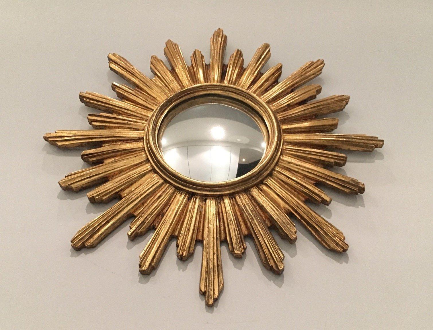 Miroir soleil vintage en r sine en vente sur pamono for Miroir soleil prix