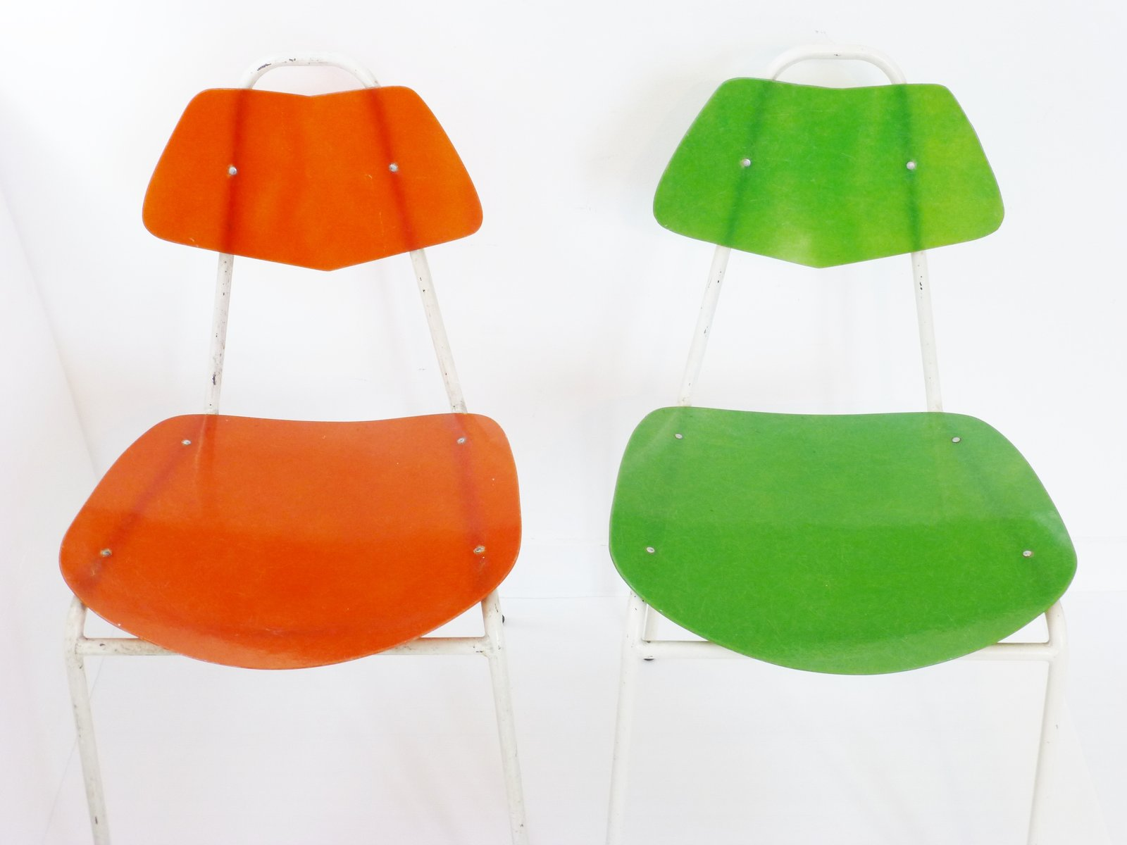 French Fiberglass Chairs 1950s Set of 2 for sale at Pamono