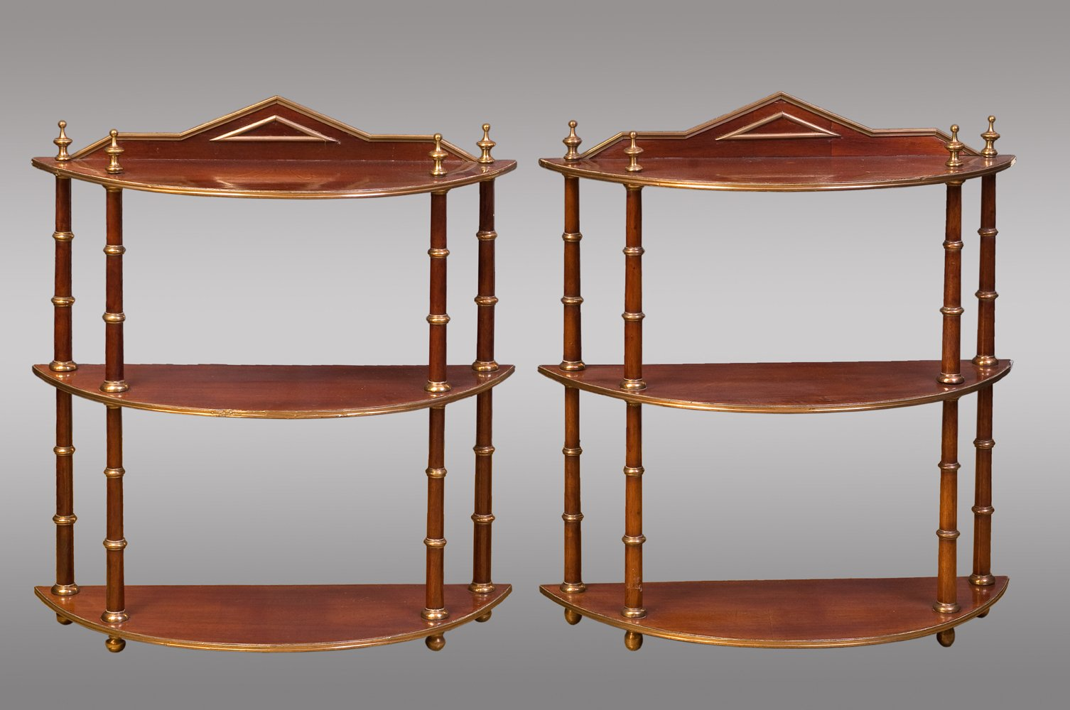 Antique Baltic Hanging Shelves Set Of 2 For Sale At Pamono