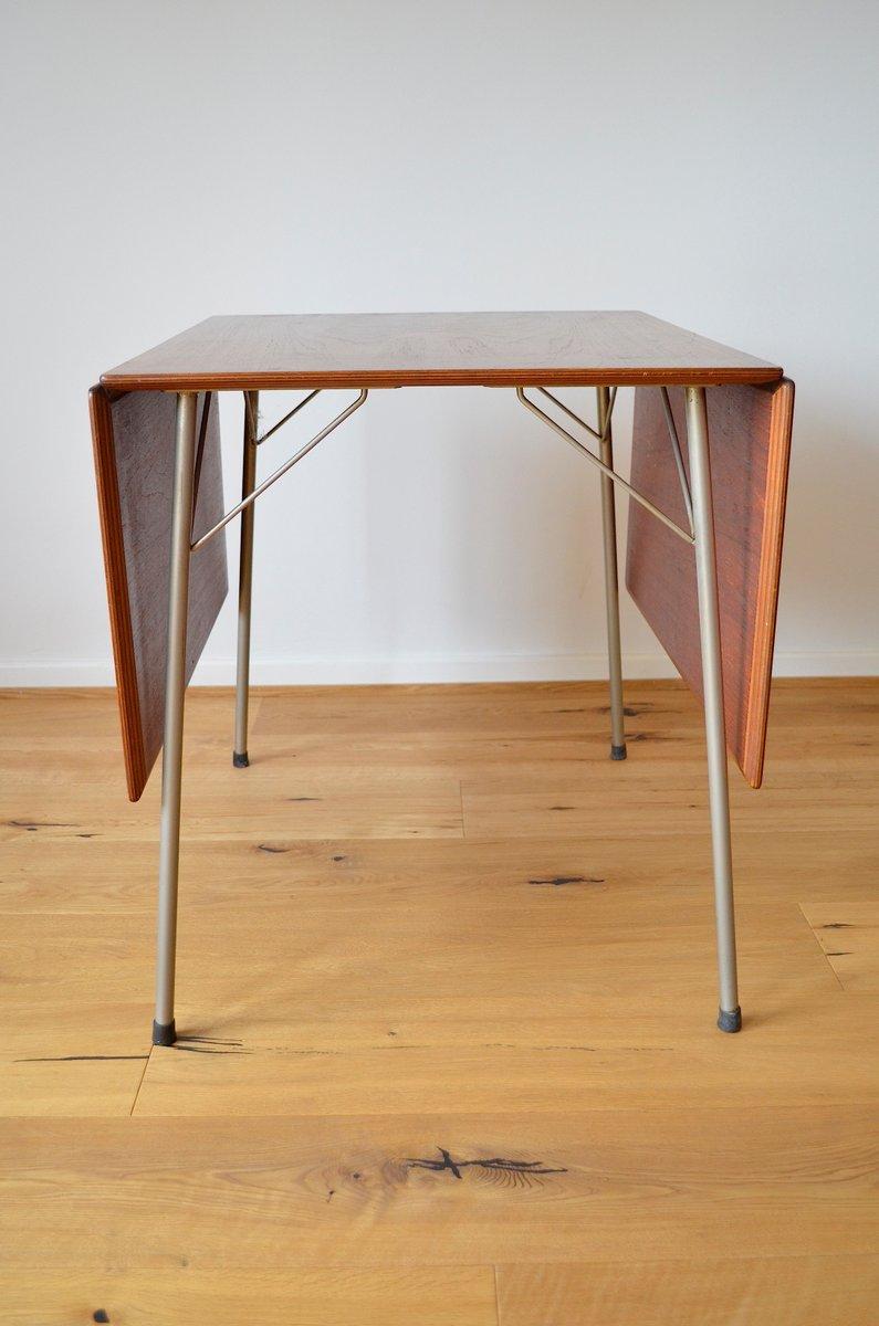 Danish Folding Model 3601 Teak Dining Table by Arne Jacobsen for