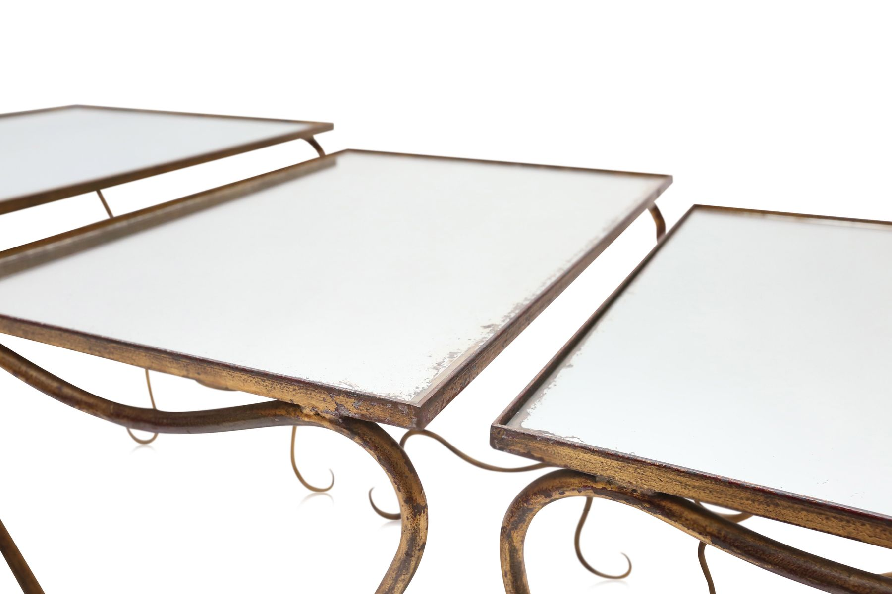 Gilded Wrought Iron Nesting Tables By René Drouet, 1940s 5. $3,078.00.  Price Per Set