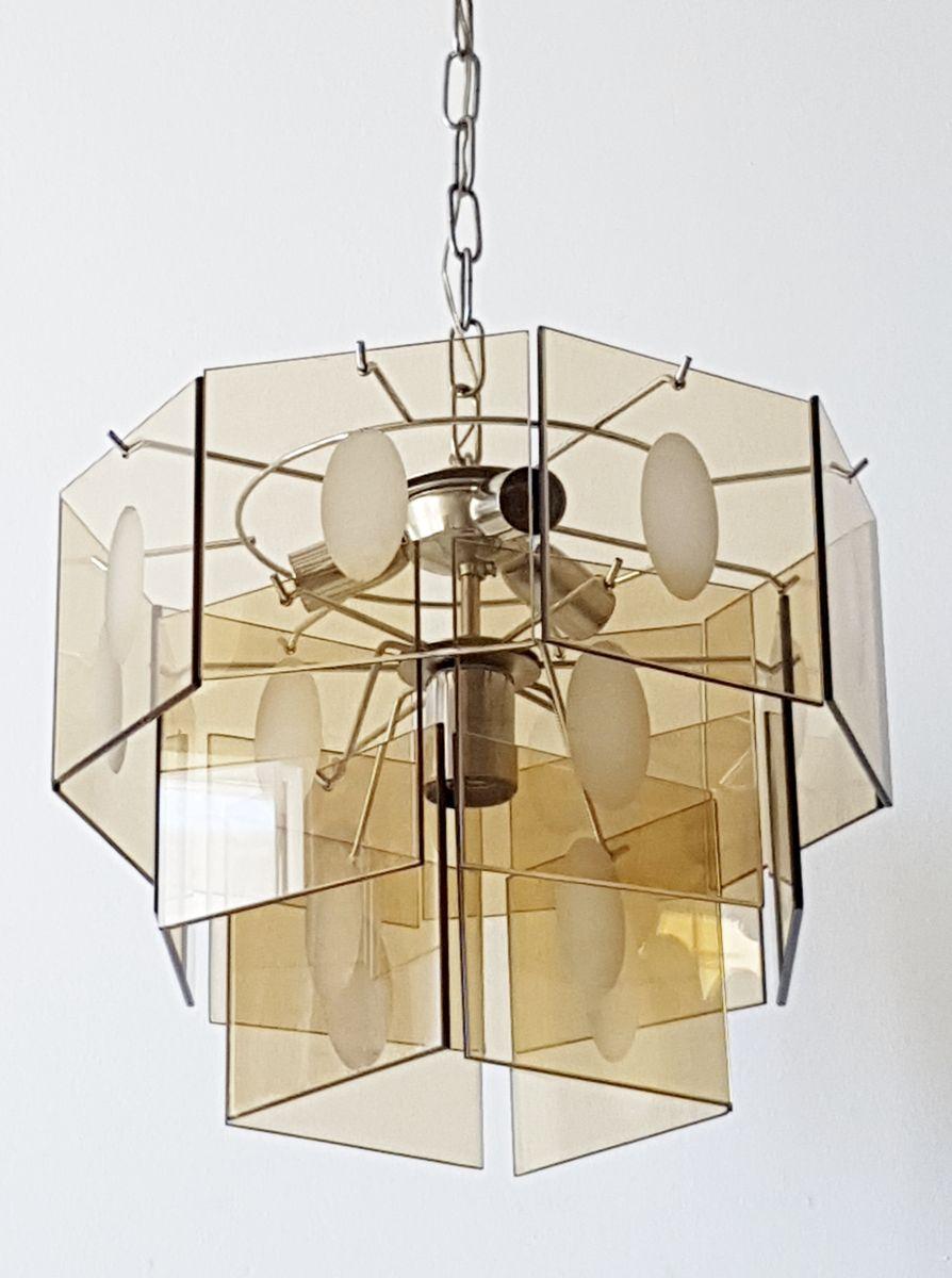 vintage ceiling lighting. Vintage Smoked Glass Ceiling Light 1970s Lighting