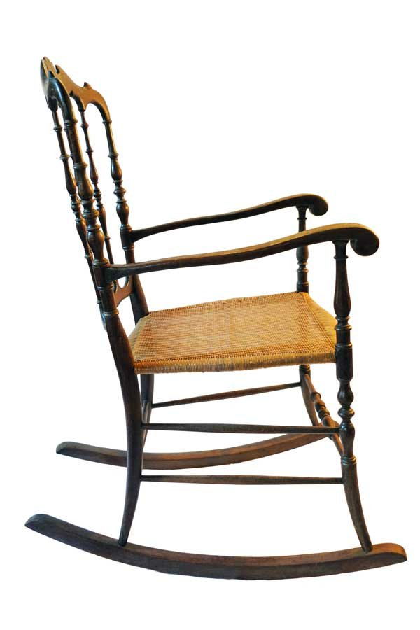 vintage chiavarina rocking chair by osvaldo sanguinetti