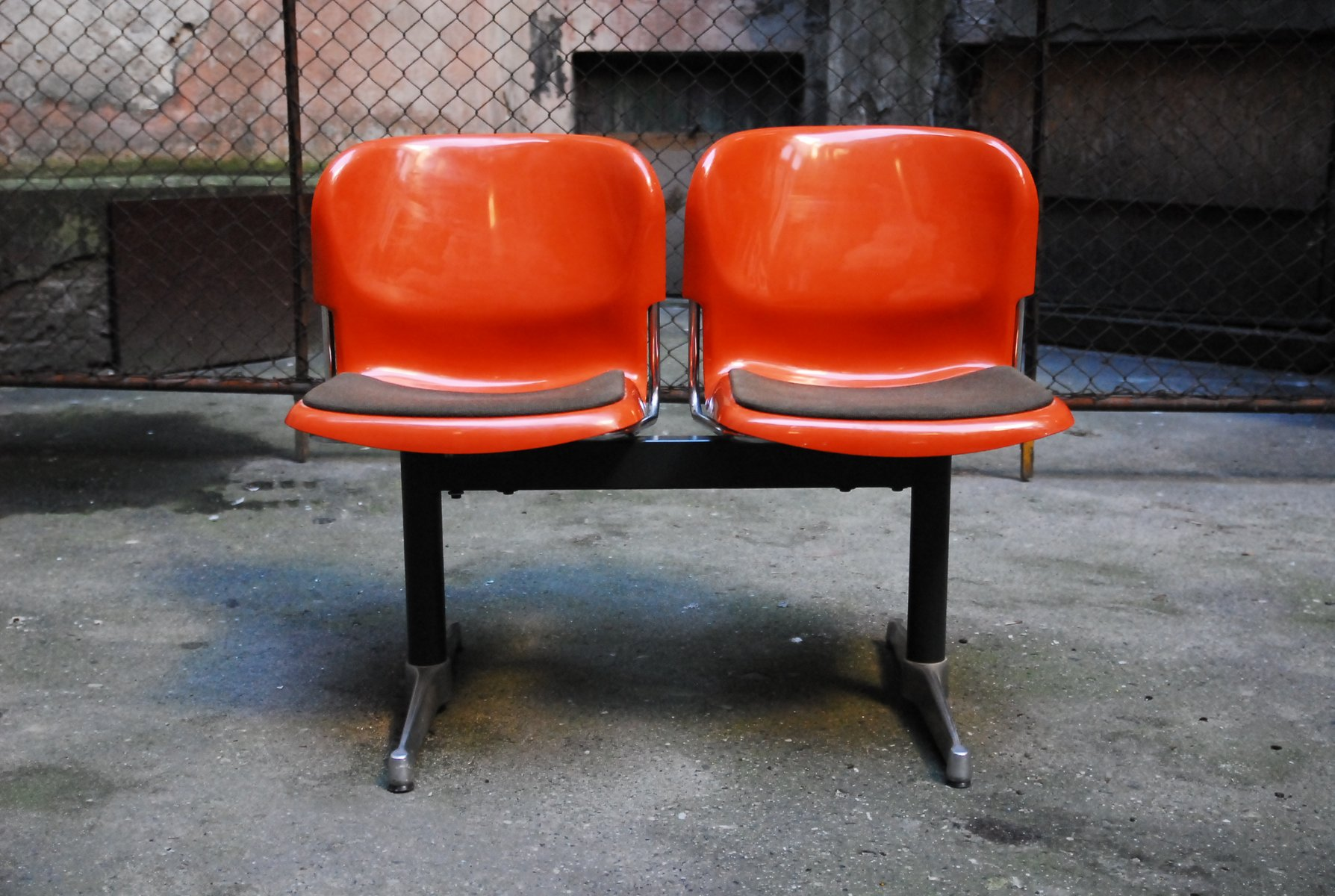 German Swing Double Chairs by Gerd Lange for Drabert 1960s for