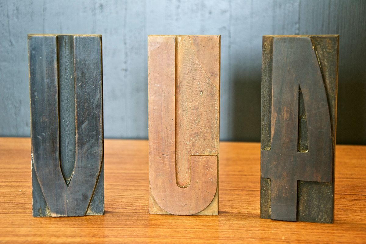 vintage wooden printing letters 1950s for sale at pamono With printing letters on wood