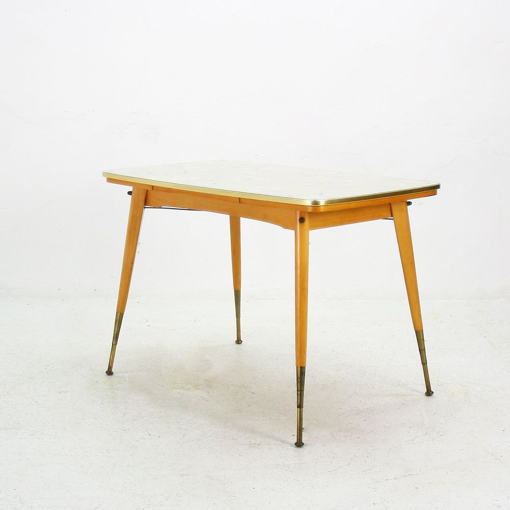 extendable glass top coffee table, 1950s for sale at pamono