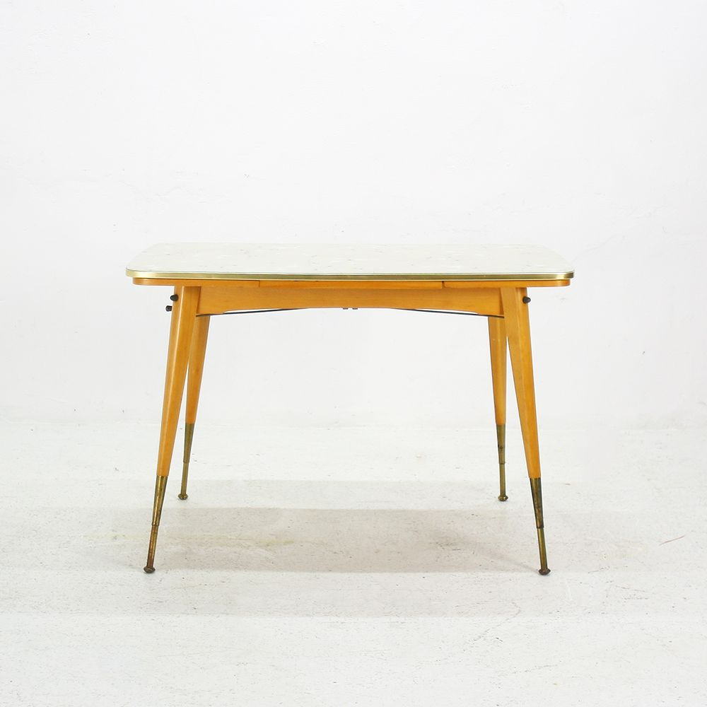 ausziehbarer couchtisch mit glasplatte 1950er bei pamono. Black Bedroom Furniture Sets. Home Design Ideas