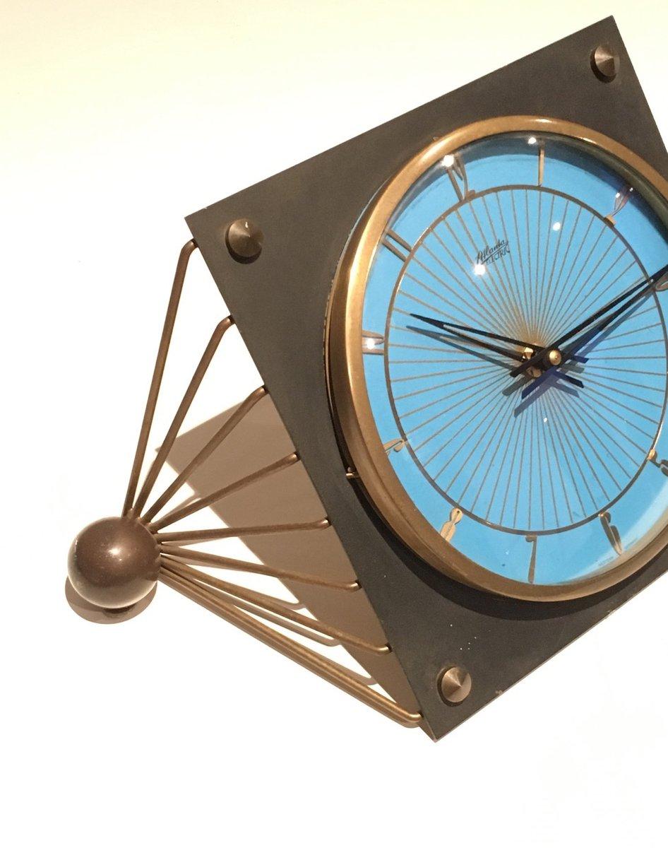 Schwarz lackierte metall tischuhr bei pamono kaufen for Flurgarderobe metall schwarz