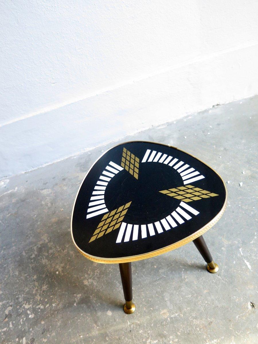 beistelltisch in schwarz gold 1950er bei pamono kaufen. Black Bedroom Furniture Sets. Home Design Ideas