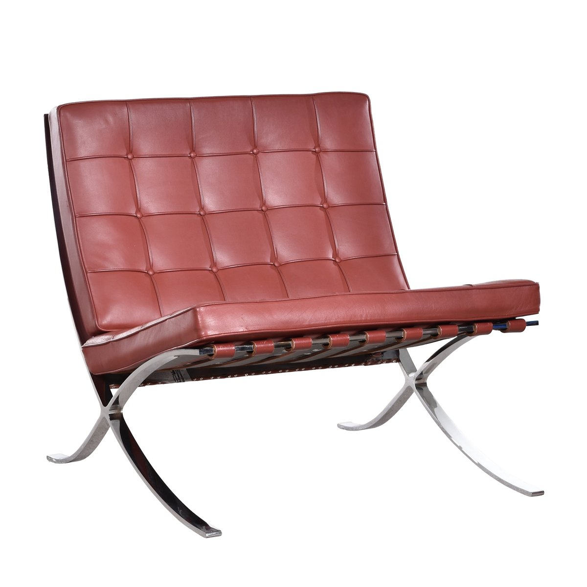 Chaise barcelona par ludwig mies van der rohe pour knoll for Chaise barcelona knoll prix