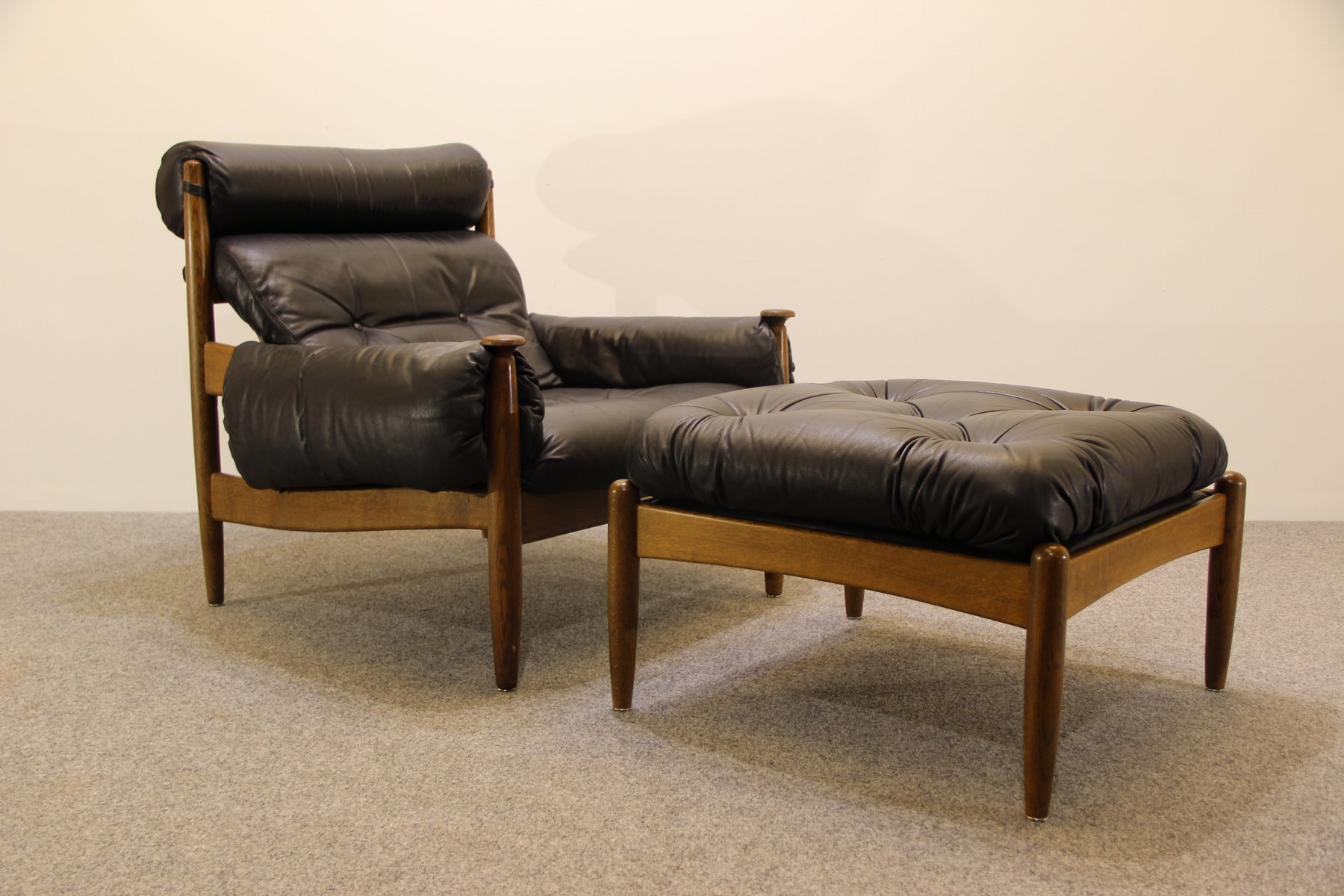 Mid Century Easy Chair & Ottoman by Eric Merthen for sale at Pamono