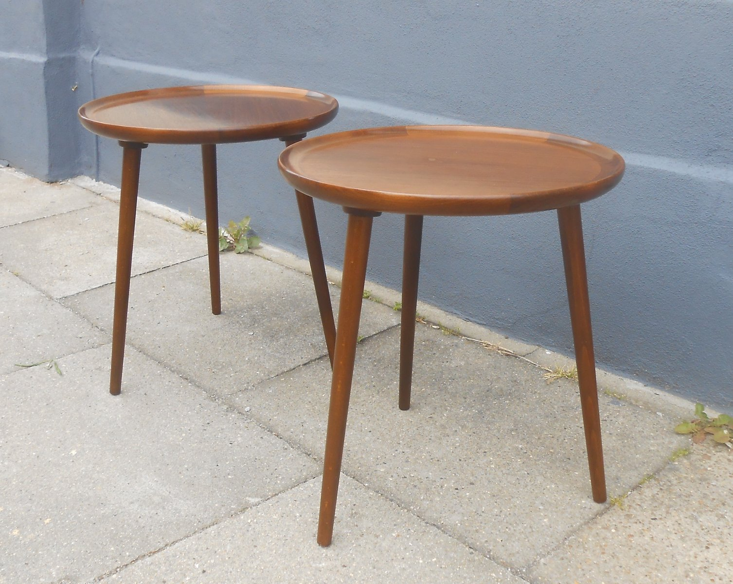 Three Legged Wooden Side Table Designs