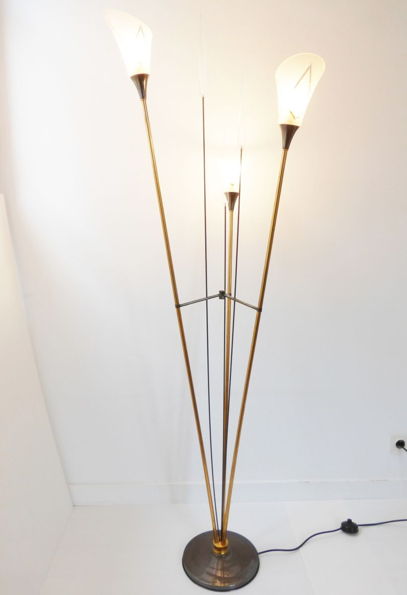 Three reed floor lamp 1950s for sale at pamono for 1950 floor lamp