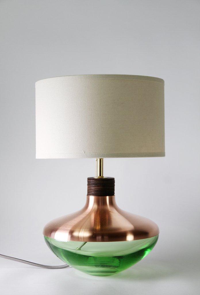 minzfarbene m1 museum lampe aus kupfer von utopia utility bei pamono kaufen. Black Bedroom Furniture Sets. Home Design Ideas