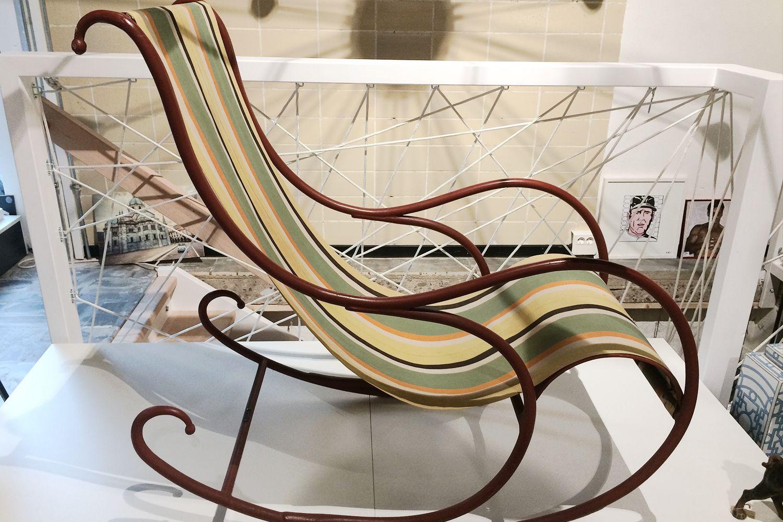 Sedia a dondolo di Luigi Zurla, Italia, anni \'40 in vendita su Pamono